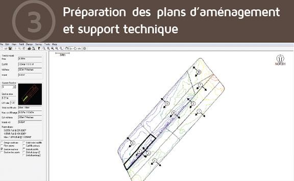 Préparation des plans d'aménagement et support technique